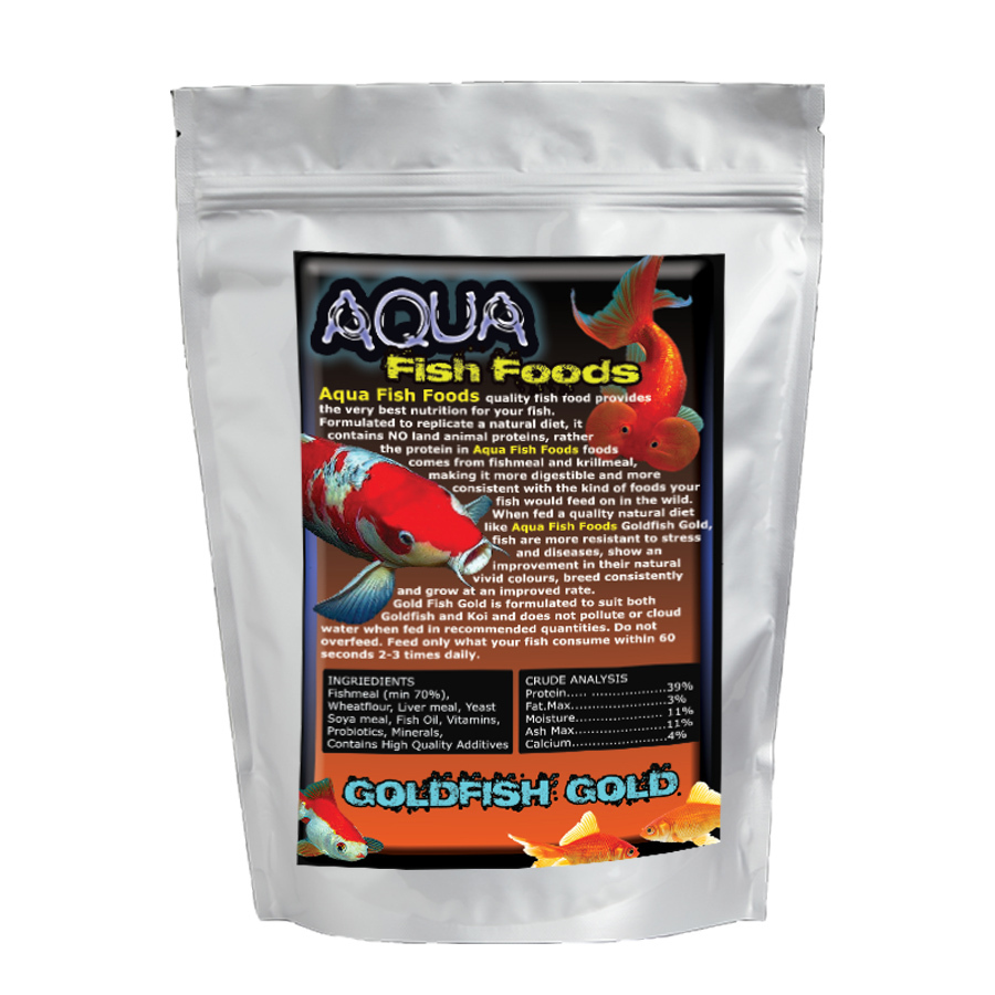 Aquamunch Goldfish Gold Small 250g Bag