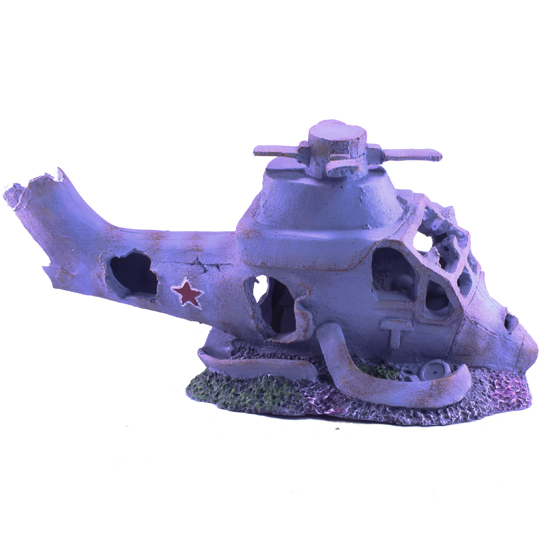 Biopro Aquarium Ornament Medium Fighter Helicopter