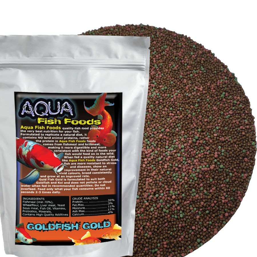 Aquamunch Goldfish Gold Small 1kg Bag