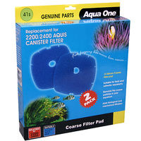 Aqua One Nautilus 2700 Canister Media Replacement Kit 15ppi Blue