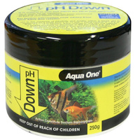 Aqua One Aquarium pH Down Powder Buffer 250g