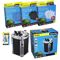 Aqua One Nautilus 800 External Canister Filter Value Pack