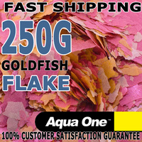 Aqua One Goldfish & Koi Aquarium Fish Food Flake Bulk 250g