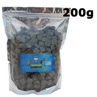 Cubed Australian Black Worm Freeze Dried 200g cube