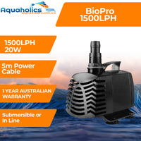 Biopro Amphibious Aquarium & Pond Water Pump 1500lph 20W