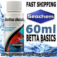 Seachem Betta Basics Fighting Fish Water Conditioner 60ml